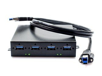 - USB 3.0 Hub, 4 Ports side by side