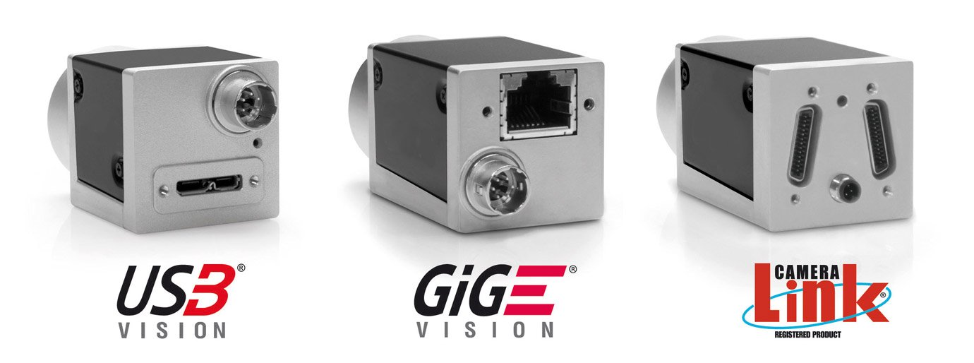 GigE Vision, USB3 Vision and Camera Link