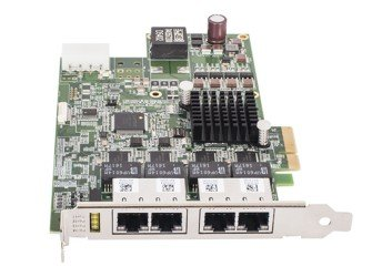 GigE 인터페이스 카드 - AdLink GigE Interface Card PCIe GIE74 with PoE, 4 Ports