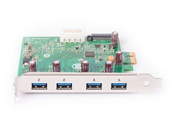 - USB 3.0 Interface Card PCIe, Fresco FL1100, 1HC, x1, 4 Ports