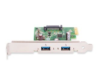 - USB 3.0 Interface Card PCIe, Ren, 1 HC, x1, SATA, 2 Ports