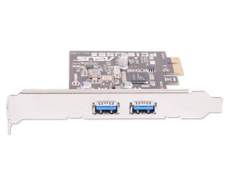 - USB 3.0 Interface Card PCIe, Renesas, 1 HC, x1, 2 Ports